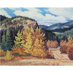 Gilbert A. Flodberg Canadian [b. 1938]AFTERNOON SHADOWS, NEAR RADIUMoil on canvas18 x 22 in. (45.7 x