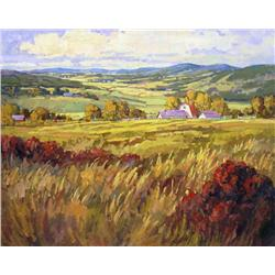 Ken Gillespie Canadian FCA [b. 1948]VALLEY, SEPTEMBERoil on canvas48 x 60 in. (121.9 x 152.4 cm)sign
