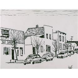 Illingworth Holey Kerr Canadian ASA, BCSA, RCA [1905-1989]SKI SHOPink on paper10.25 x 13.25 in. (26