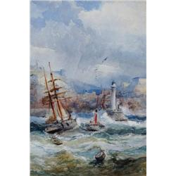 Frederick William Booty British [1840-1924]WHITBY; 1886watercolour on paper9.5 x 6.5 in. (24.1 x 16.