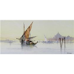 William Stewart Scottish [1823-1906]SAILING VESSELS OFF THE COAST OF VENICEwatercolour heightened wi