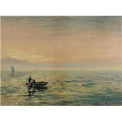 Marmaduke Matthews Canadian OSA, RCA [1837-1913]FISHING IN THE HAZEwatercolour on paper14.5 x 19.25