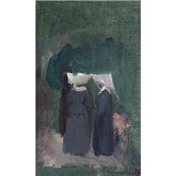 Sydney Strickland Tully Canadian OSA, RCA [1860-1911]NUNS; ca 1900oil on canvas laid on panel8.5 x 5