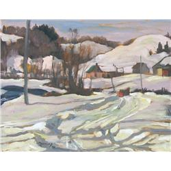 Maurice Hall Haycock Canadian [1900-1988]NEAR RIPON, QUEBEC; 1950oil on panel11 x 14 in. (27.9 x 35.