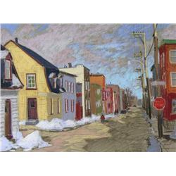 Horace Champagne Canadian PSA, PSC [b. 1937]RUE DE MEZENOT; 1982pastel on paper18 x 24 in. (45.7 x 6