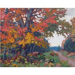 Herbert Sidney Palmer Canadian CSGA, CSPWC, OSA, RCA [1881-1970]OCTOBER MAPLEoil on canvas20 x 25 in