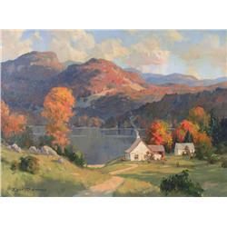 John Eric Benson Riordon Canadian RCA [1906-1948]THE STILL LAKE, LAURENTIDESoil on canvas18 x 24 in.