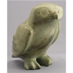 Seepee Ipellie Canadian, Iqaluit [1940-2000]OWL; 1979carved light green stone8.5 x 9.25 x 6 in. (21.