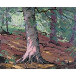 William Parsons Canadian OIP [1909-1982]BEECHWOODSoil on board15 x 18 in. (38.1 x 45.7 cm)signed & t