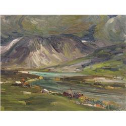 Rene Jean Richard Canadian [1895-1982]FOND DU FIORD (FAR END OF THE FJORD) ADLOYLIK, UNGAVA, QUEBECo