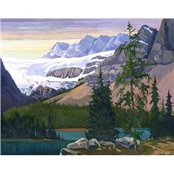 Karen R. Hersey Canadian [b. 1941]CROWFOOT; 1998oil on canvas40 x 50 in. (101.6 x 127 cm)signed, tit
