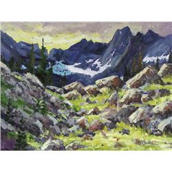 Neil Patterson Canadian ASA, FCA, OPA [b. 1947]HIGH COUNTRYoil on linen18 x 24 in. (45.7 x 61 cm)sig