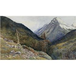 James Alfred Aitken Scottish RSW [1846-1897]MOUNT AITKEN (SELKIRKS)watercolour on paper19 x 11 in. (