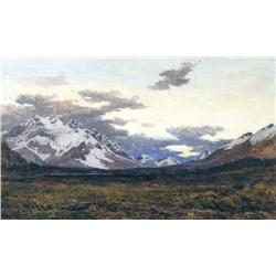 James Alfred Aitken Scottish RSW [1846-1897]LOOKING TOWARD HOWSE PASS, ROCKY MOUNTAINSwatercolour on