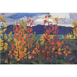 Ken Christopher Canadian [b. 1942]ASPEN FLAME, KLUANE; 1994oil on canvas16 x 24 in. (40.6 x 61 cm)si