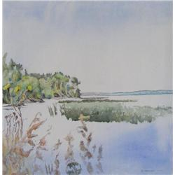 Dorothy Elsie Knowles Canadian RCA [b. 1927]SERENITY WITH A SOW THISTLE; 1978acrylic on canvas29.5 x