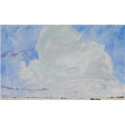 Barbara Ballachey Canadian ASA [b. 1949]CLOUD PAINTING; 1983oil on canvas30 x 49 in. (76.2 x 124.5 c