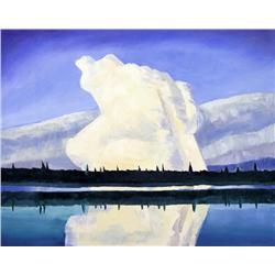David Pugh Canadian [1946-1994]WHITE SUMMER CLOUD; 1991oil on canvas38 x 48 in. (96.5 x 121.9 cm)sig