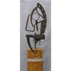 Ben McLeod Canadian [b. 1948]UNTITLED; 1985metal and wood49 in. (124.5 cm) highProvenance: Estate of