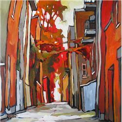 Sacha Barrette Canadian [b. 1965]RUELLEacrylic on canvas24 x 24 in. (61 x 61 cm)signed & titled
