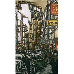 Alexandre Zerbe Canadian [b. 1974]PEDESTRIANS ON A NARROW STREETacrylic on canvas60 x 36 in. (152.4