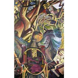 David Pugh Canadian [1946-1994]EAGLET IIoil on canvas60 x 40 in. (152.4 x 101.6 cm)signed