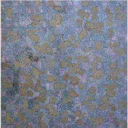 Gerald Hushlak Canadian ASA, RCA [b. 1944]ABSTRACT COMPOSITIONacrylic on lattice canvas39 x 39.5 in.