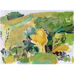 Barbara Ballachey Canadian ASA [b. 1949]ORDINARY HILL #1; 1980oil on canvas48 x 64 in. (121.9 x 162.