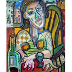 Pierre Bedard Canadian [b. 1960]FEMME EN VILLEoil on canvas36 x 30 in. (91.4 x 76.2 cm)signed & titl