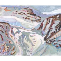 Laurel Cormack Canadian ASA [b. 1935]BOUNDARY GLACIER, COLUMBIA ICEFIELD AREA; 1997-98acrylic on can