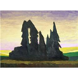David Pugh Canadian [1946-1994]GROVE; 1993oil on canvas12 x 16 in. (30.5 x 40.6 cm)signed, titled &