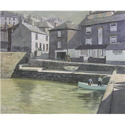 C. Ward British [20th century]CORNISH HARBOURoil on canvas25 x 30 in. (63.5 x 76.2 cm)signed