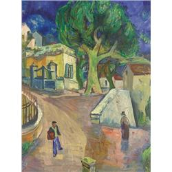 Frederick Serger American [1889-1965]LA COLLE, SOUTH OF FRANCE; 1950oil on canvas26 x 20 in. (66 x 5