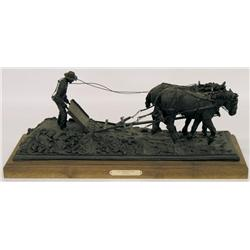 Rich Roenisch Canadian [20th/21st century]THE MORMON BOARD CA 1912bronze mounted on a walnut base; e