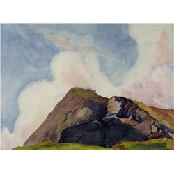 Katherine Sibley McEwen American [1875-1945]ASCENDING CLOUDS, CANADIAN ROCKIES; 1920watercolour on p