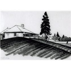 Walter Joseph Phllips Canadian ASA, CPE, CSPWC, MSA, RCA [1884-1963]ENGINEER'S HOUSE AND SOUTH WALL;