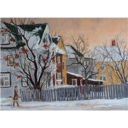 Horace Champagne Canadian PSA, PSC [b. 1937]16 ST. & 15 AVE. SW (Calgary); 1982pastel on paper18 x 2