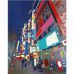Sheila Kernan Canadian ASA [b. 1983]CITY BLUES; 2007oil on canvas30 x 24 in. (76.2 x 61 cm)signed &