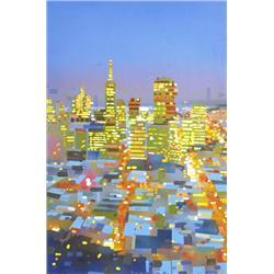 Sheila Kernan Canadian ASA [b. 1983]CITY TWILIGHT; 2007oil on canvas36 x 24 in. (91.4 x 61 cm)signed