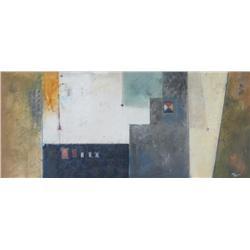 Pietro Adamo Canadian [b. 1955]ABSTRACT COMPOSITIONacrylic on canvas22 x 49.5 in. (55.9 x 125.7 cm)s