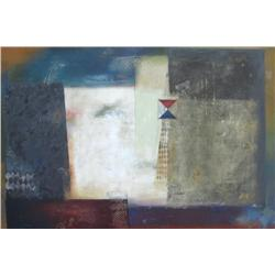 Pietro Adamo Canadian [b. 1955]ABSTRACT COMPOSITIONacrylic on canvas40 x 60 in. (101.6 x 152.4 cm)si