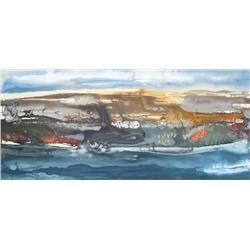 Kelly Krueger Canadian [20th/21st century]CUTBANK SERIES; 2006acrylic on canvas30 x 60 in. (76.2 x 1