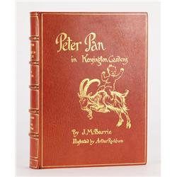 Peter Pan in Kensington Gardens, inscribed by the youngest Llewelyn Davies boy, Nicolas, one of Pete