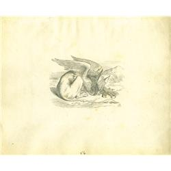 Original John Tenniel drawing of the Gryphon from Lewis Carroll's 1865 Alice's Adventures in Wonderl