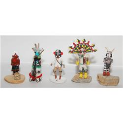 FOUR MINI HOPI KACHINAS