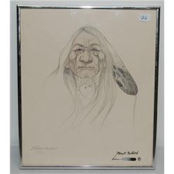 KIOWA PENCIL SKETCH
