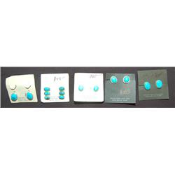 FIVE PAIR OF EARRINGS