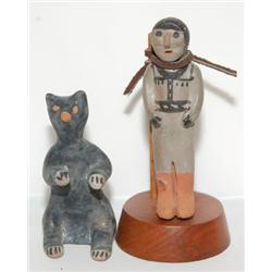 TWO COCHITI POTTERY FIGURES