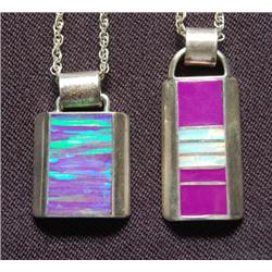 TWO NAVAJO PENDANTS/NECKLACES