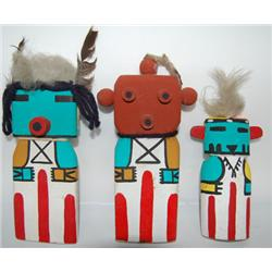 THREE HOPI KACHINAS